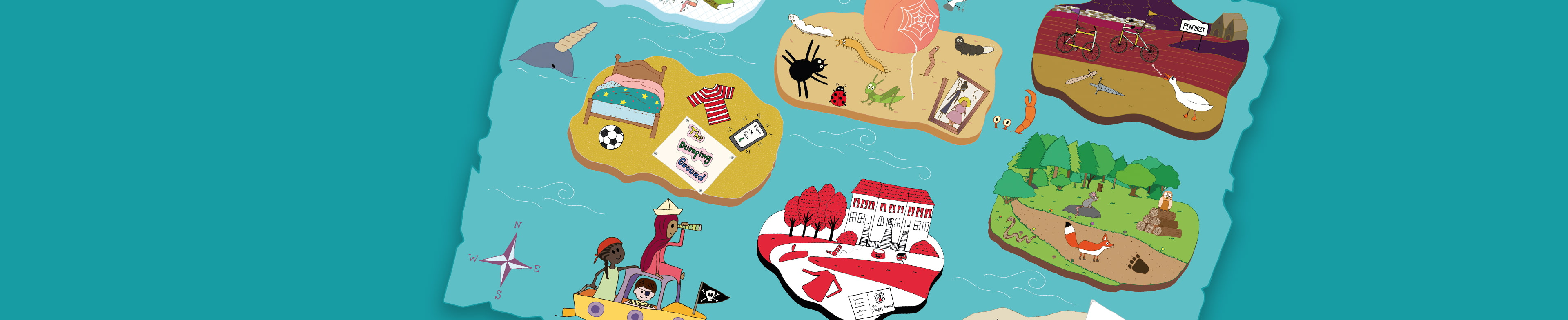 Play our Book Island Challenge to win National Book Tokens.