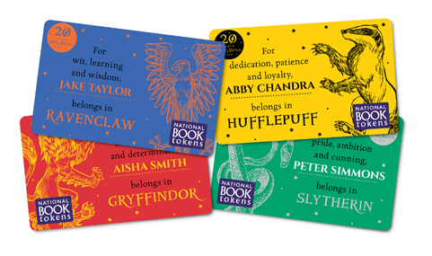 Harry Potter House personalised National Book Tokens