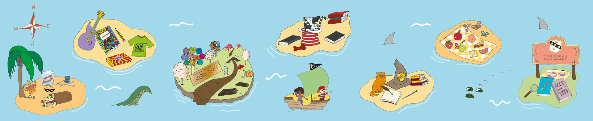 Guess all seven book characters in ourBook Island Challenge.